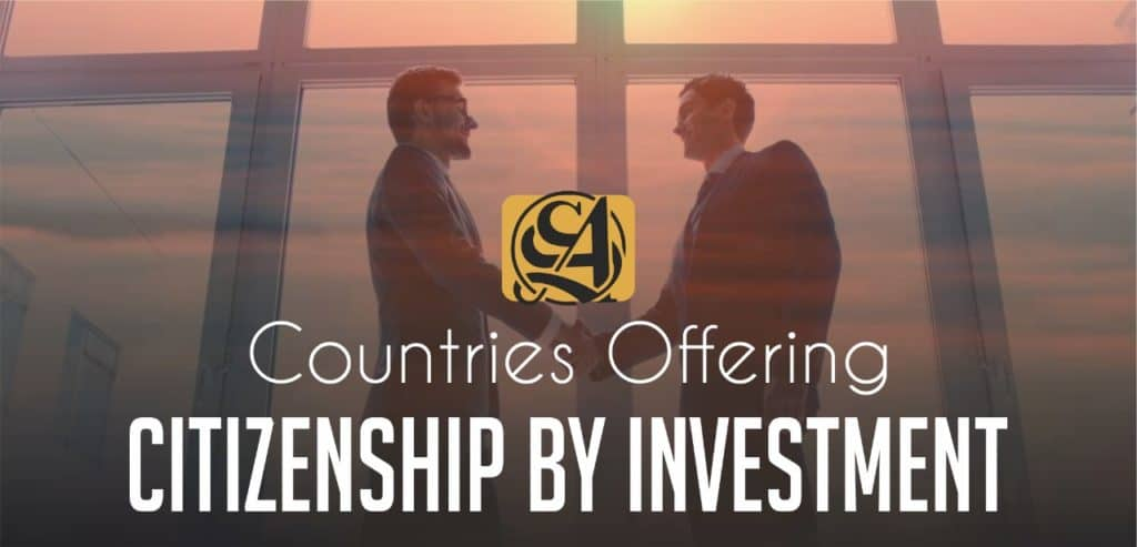Countries Offering Citizenship by investment